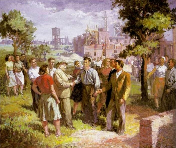 Sztálinváros a képzőművészetben