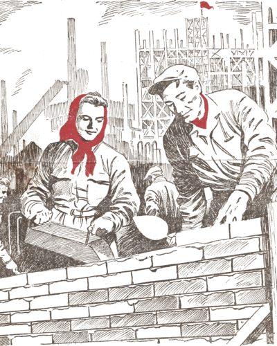 Szovjet sztahanovisták a Dunai Vasműnél