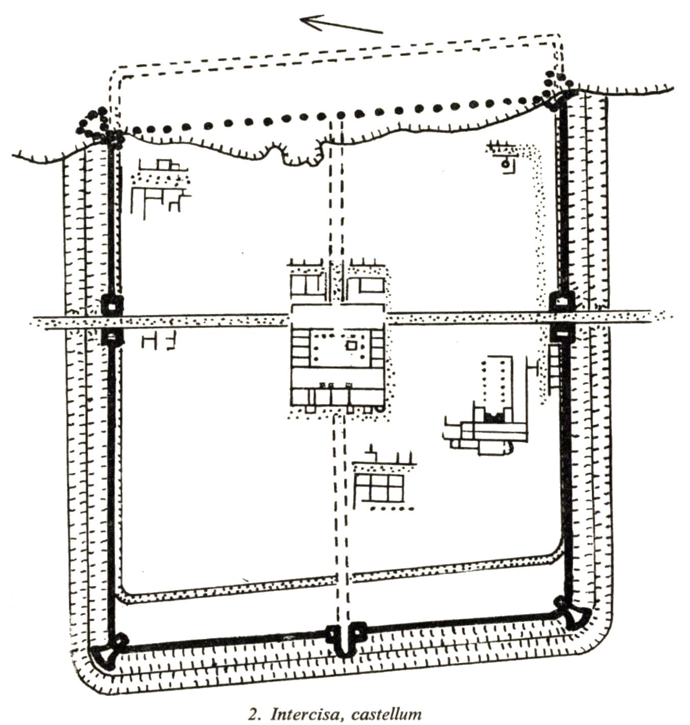 Elpusztult római erődök