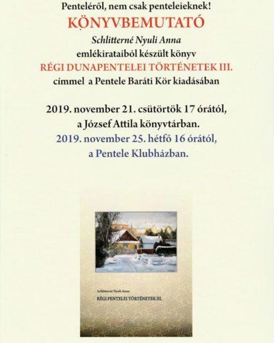 Régi dunapentelei történetek III. – Könyvbemutató
