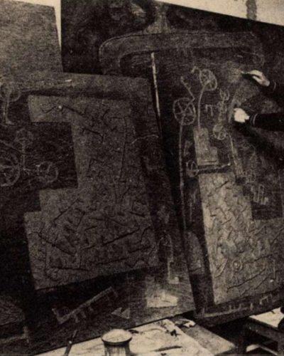 Móder Rezső vasszobrai