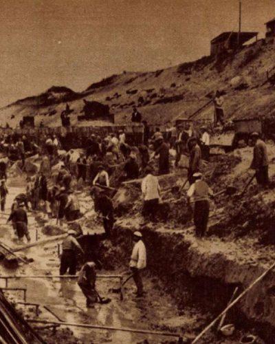 Egy vasúti bevágás, amelyben elférne a Sztálin-út