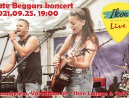 Late Beggars koncert a Városháza téren