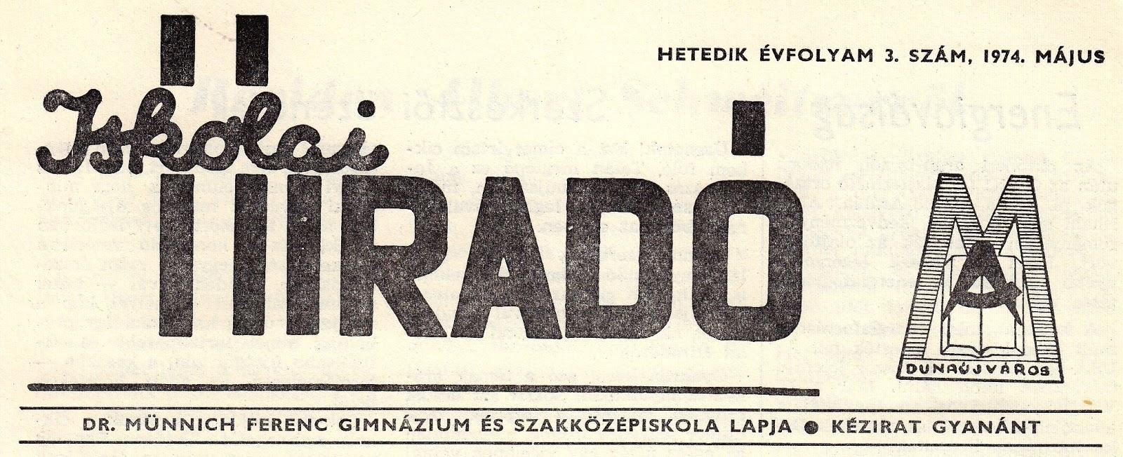 Iskolai híradó – 1974 május