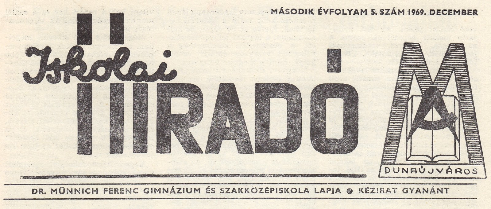 Iskolai híradó – 1969 december