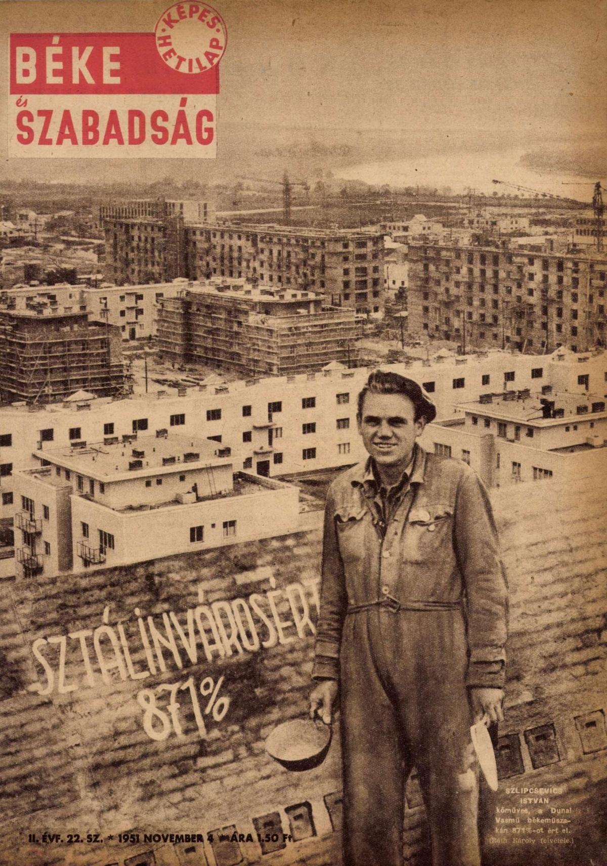 Sztálinváros, 1951 október 30