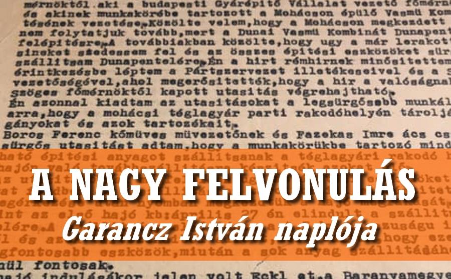 A nagy felvonulás V. – Garancz István naplója