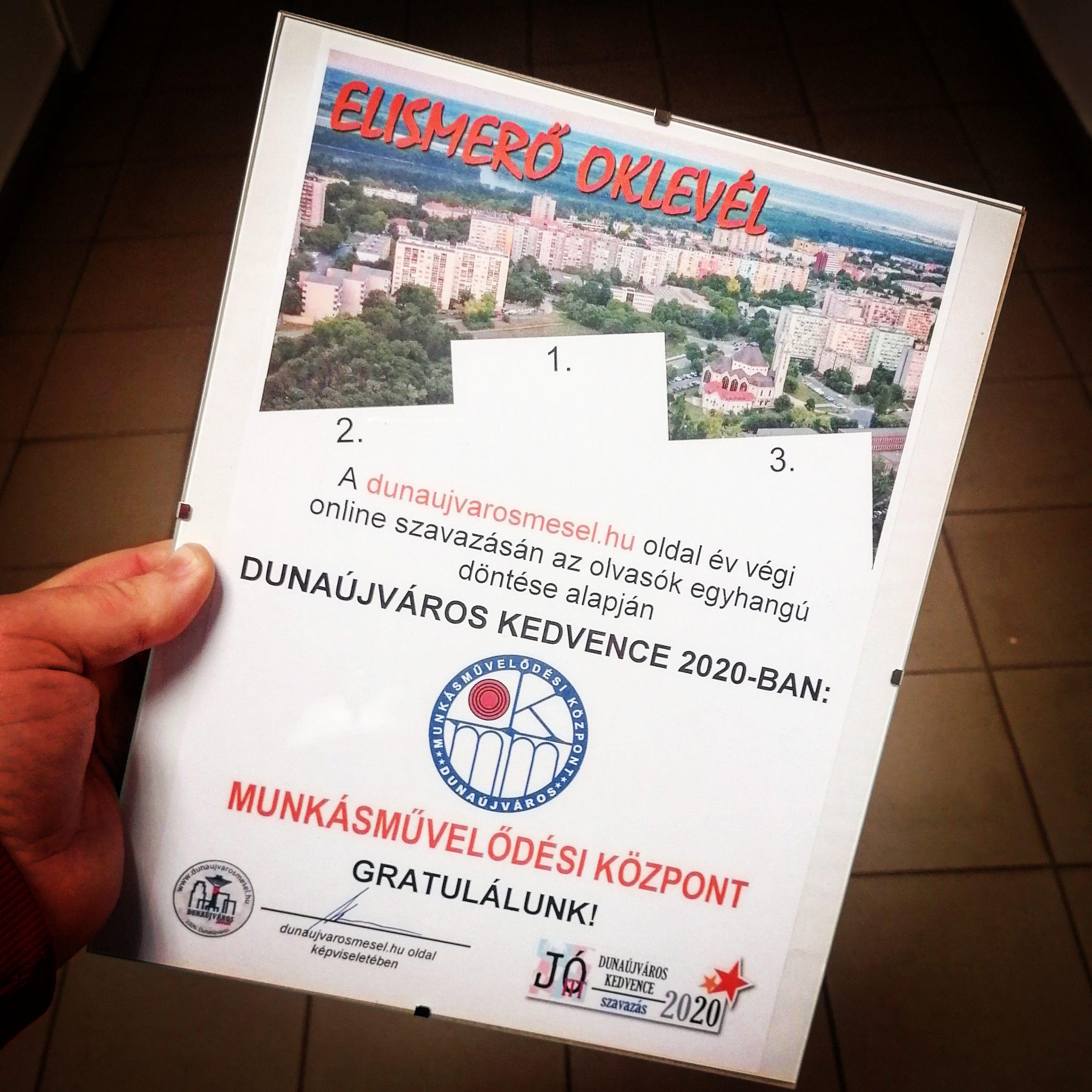 Dunaújváros Kedvence 2020