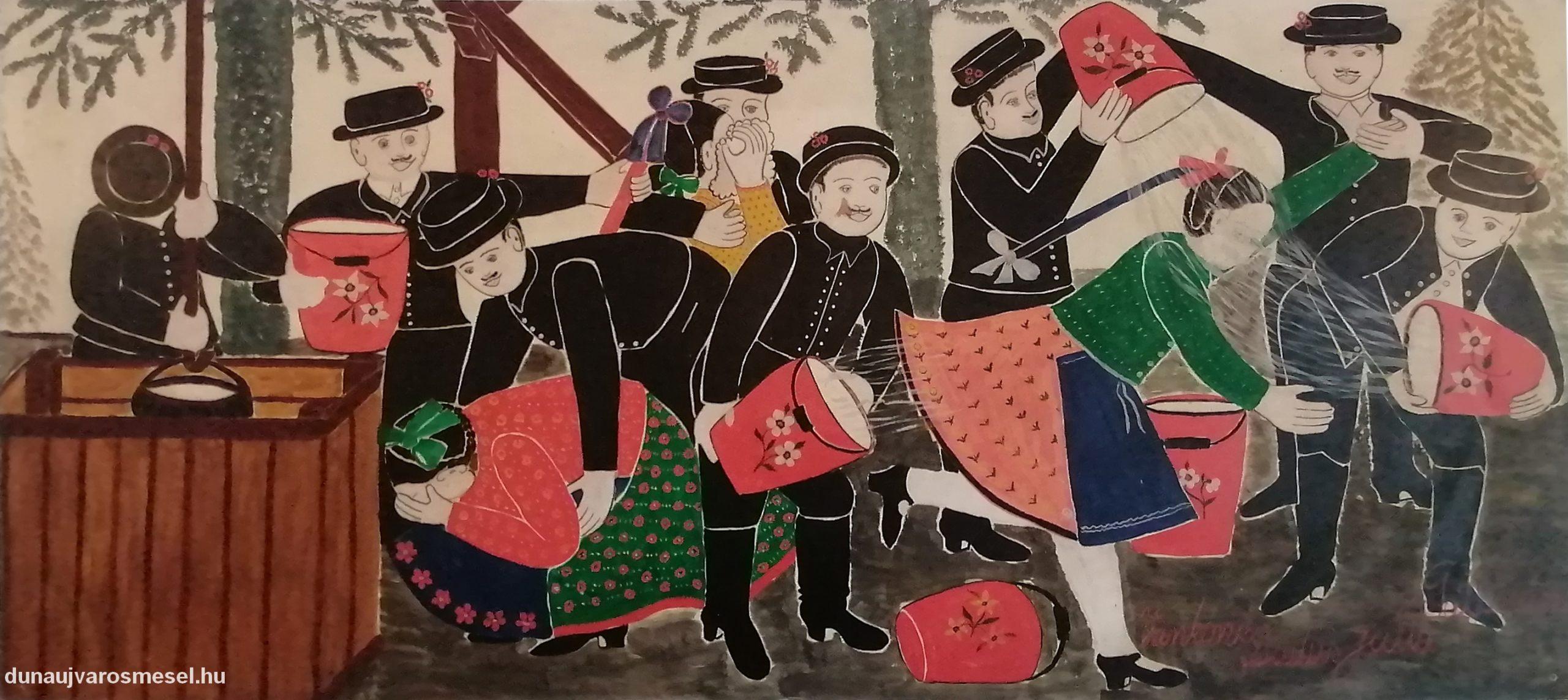 Festmények a csárda falán